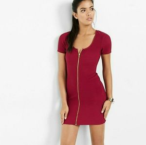Express Ribbed Zip Sheath Dress